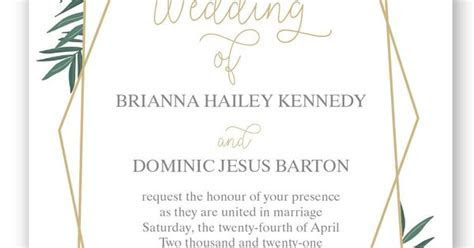Opulent Lines wedding invitation by Invitations by David's