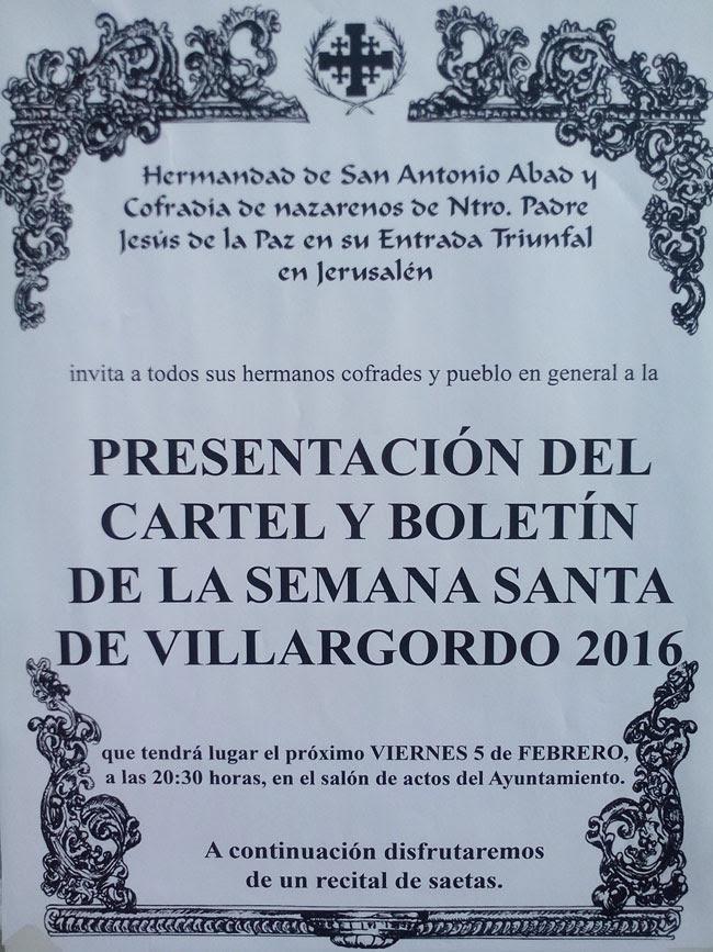Presentación del Cartel y Boletín de Semana Santa 2016