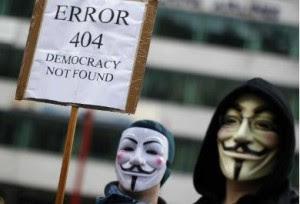 Error 404 Democracy not found - Anonimus