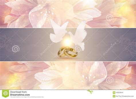 Wedding Invitation Template. Stock Illustration