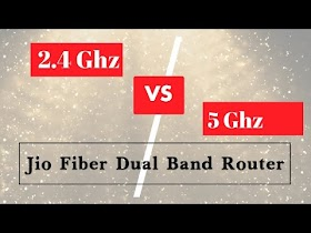 5 Ghz Vs 2.4 Ghz Dual Band Speed Test (Jio Fiber Router)