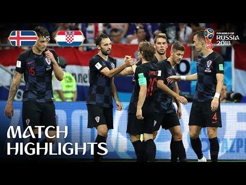 Croatia Versus Iceland;2-1
