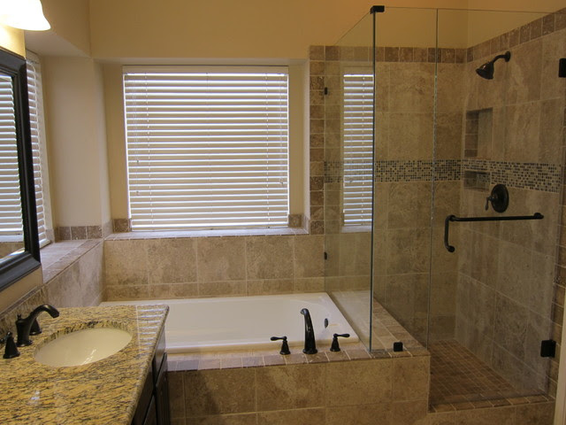 Shower and tub master bathroom remodel - traditional - bathroom ...