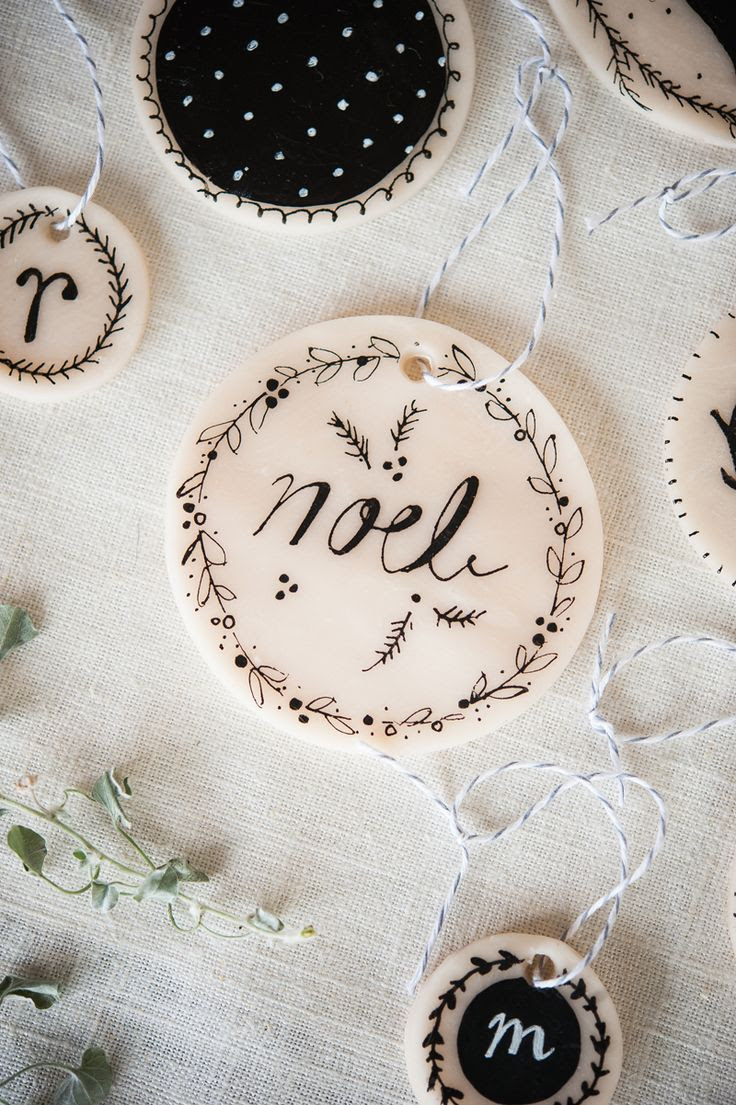 DIY: Make Your Own Clay Ornaments via A Beautiful Mess