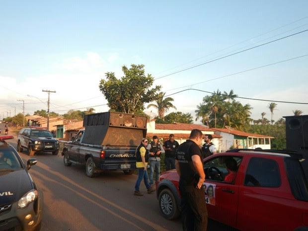Operação apreende veículos que estariam fazendo propagande eleitoral irregular (Foto: Divulgação/Ministério Público)