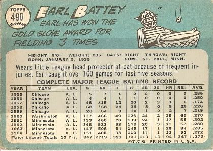 #490 Earl Battey (back)