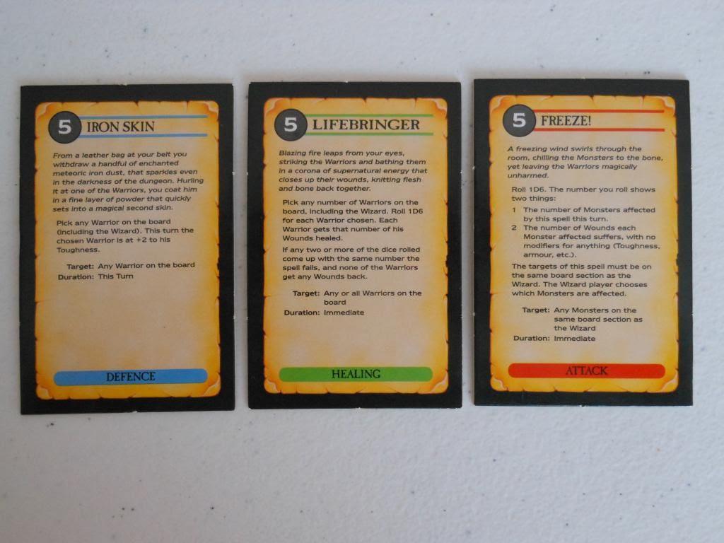 Warhammer Quest spells