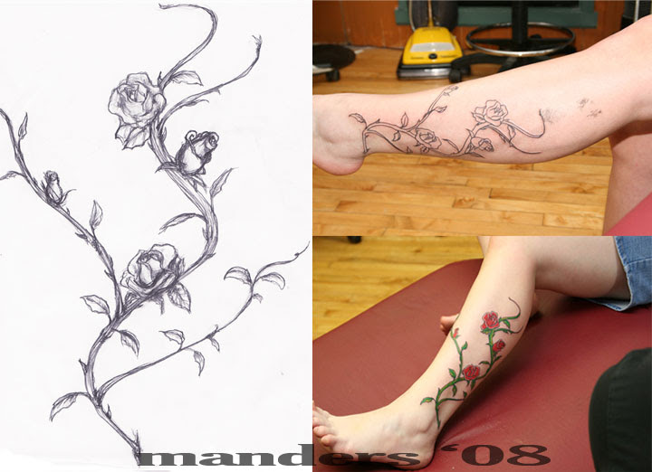 Purple Vine Tattoos Designs Tattoo Girlz Tattoomagz
