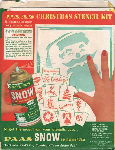 Paas Christmas Stencil Kit - back