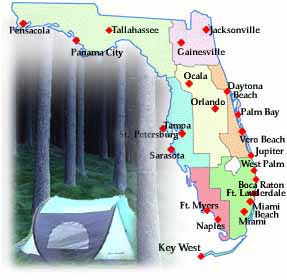Florida Campgrounds Map Florida Campground Map | Florida Map 2018