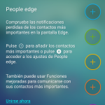 Pantalla Edge del Samsung Galaxy S6 Edge Plus