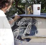 Lukisan yang Cool Dari Debu Mobil