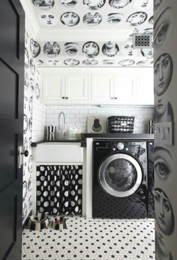 Black And White Laundry Room Design Ideas Home Design And Interior