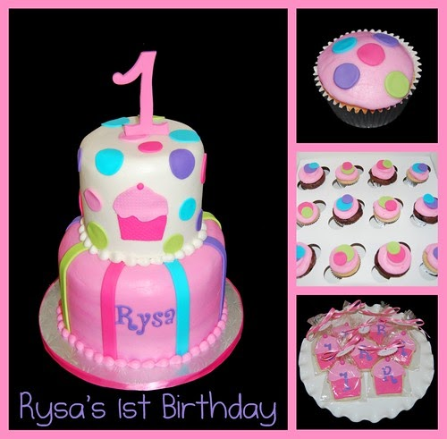 A Cupcake Themed 1st Birthday Party With Paisley And Polka: Simply Sweets Cake Studio, Scottsdale Phoenix, AZ -custom