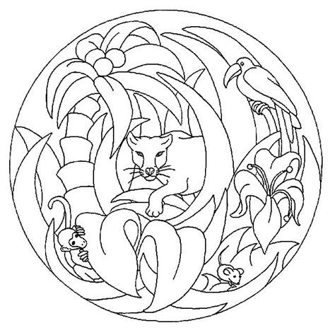 coloring pages mandala animals picture