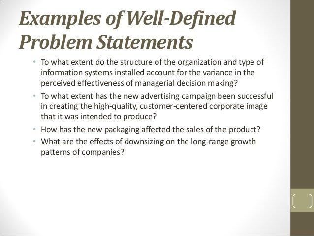 FREE 6+ Problem Statement Examples & Samples in PDF | Examples