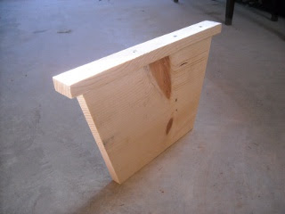 Homemade Top Bar Bee Hive False Back