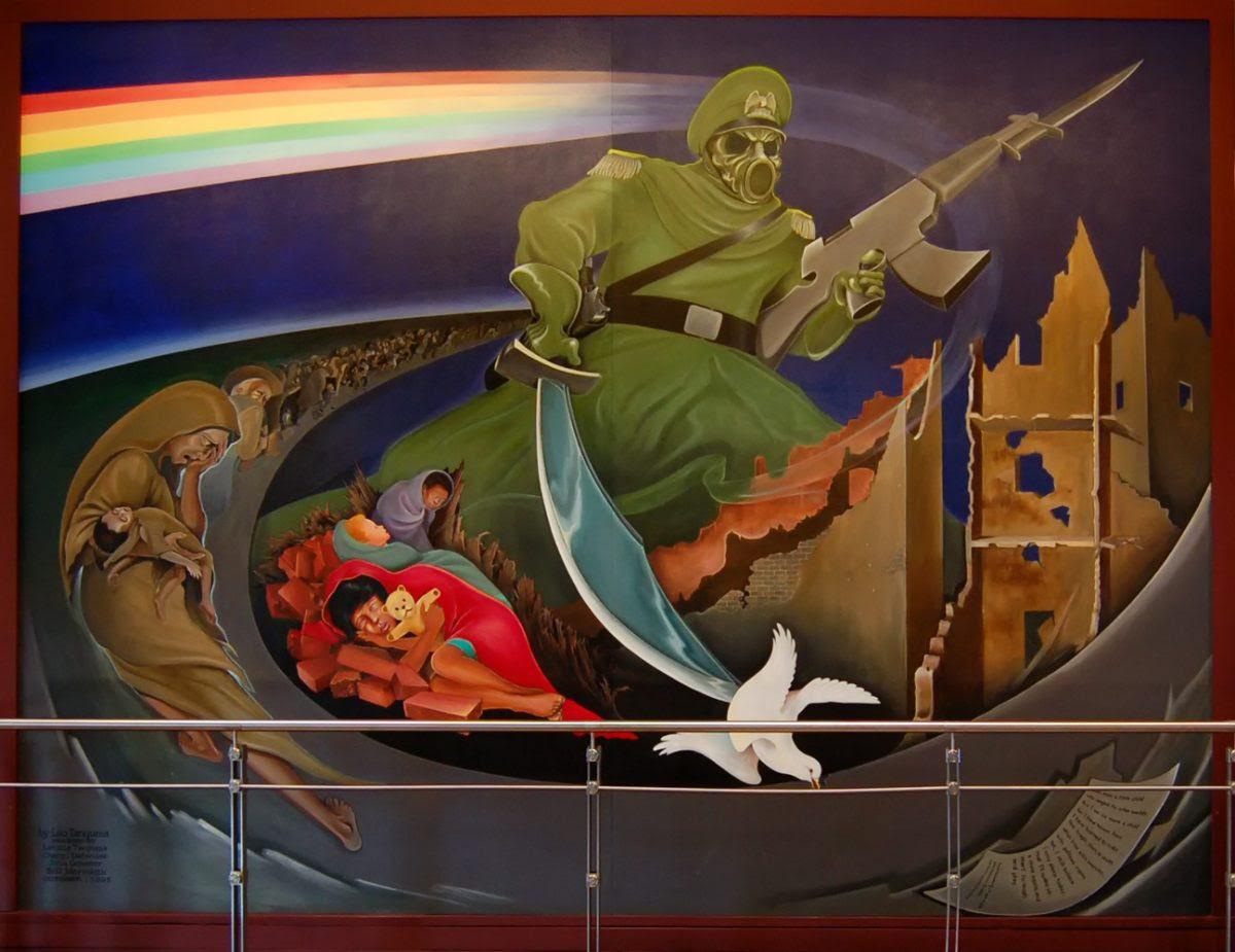 Denver Airport Murals Morbid Images Mountain Weekly News