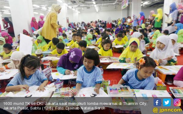 Standarpen Ajak 1600 Murid Tk Mengenal Budaya Lewat Lomba Mewarnai
