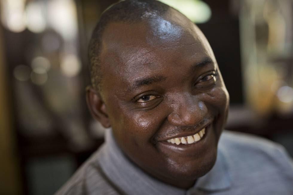 Adama Barrow, presidente electo de Gambia.