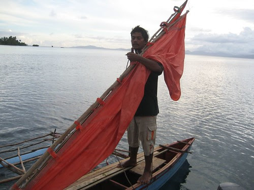 Atia with sail