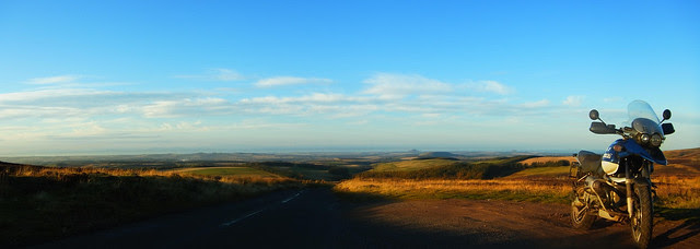 Over the Lammermuirs to Duns.