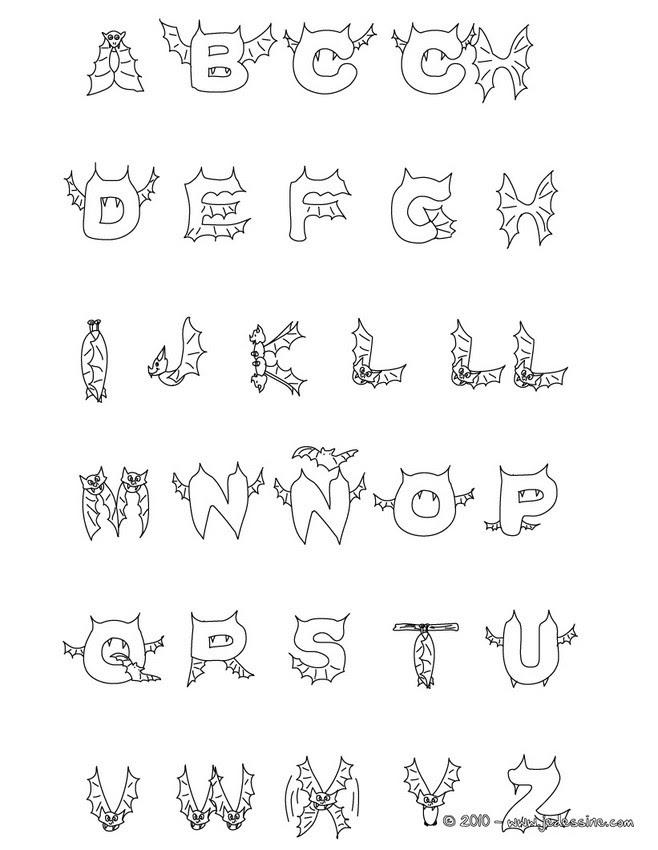 """Résultat de recherche d'images pour """"alphabet halloween imprimer"""""""