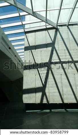 Interior With Skylight And Concrete Walls, Canadian War Museum ...