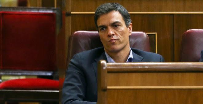 Pedro Sánchez durante la primera votación del debate de investidura del candidato del PP, Mariano Rajoy. / REUTERS