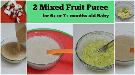 mixed fruit puree     months baby  healthy
