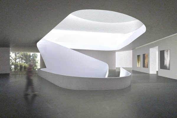 News, Shelby, Museum of Fine Arts, Kinder building second floor,l January 2015