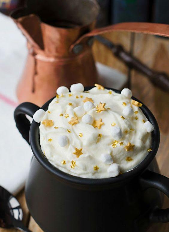 Butterbier hot chocolate ist eine Magische Idee für Ihre Themen-Hochzeit