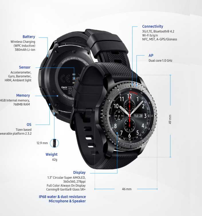 Gear S3 كل ما تريد معرفته عن مميزات ساعة سامسونج الجديدة عالم التكنولوجيا