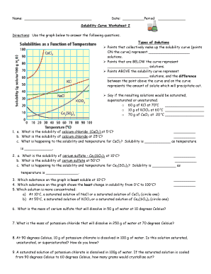 Bestseller: Solubility Curve Practice Problems Worksheet 1 ...