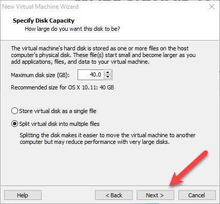 Specify Disk
