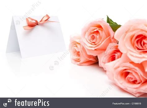 Cards And Posters: Invitation Card And Roses   Stock