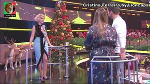 Cristina Ferreira sensual no concurso Apanha se Puderes