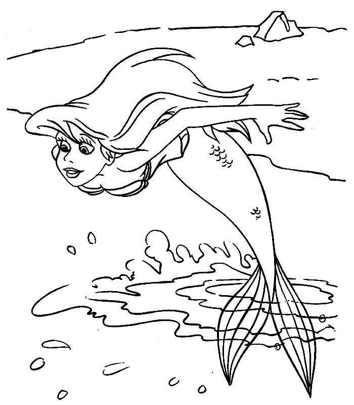 Ariel Da Colorare Per Bambini Stampae Colorare