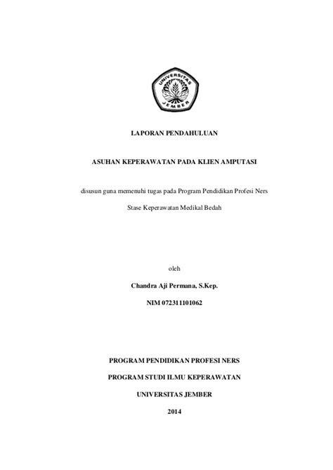 Asuhan Keperawatan pada Klien Amputasi (Laporan Pendahuluan)