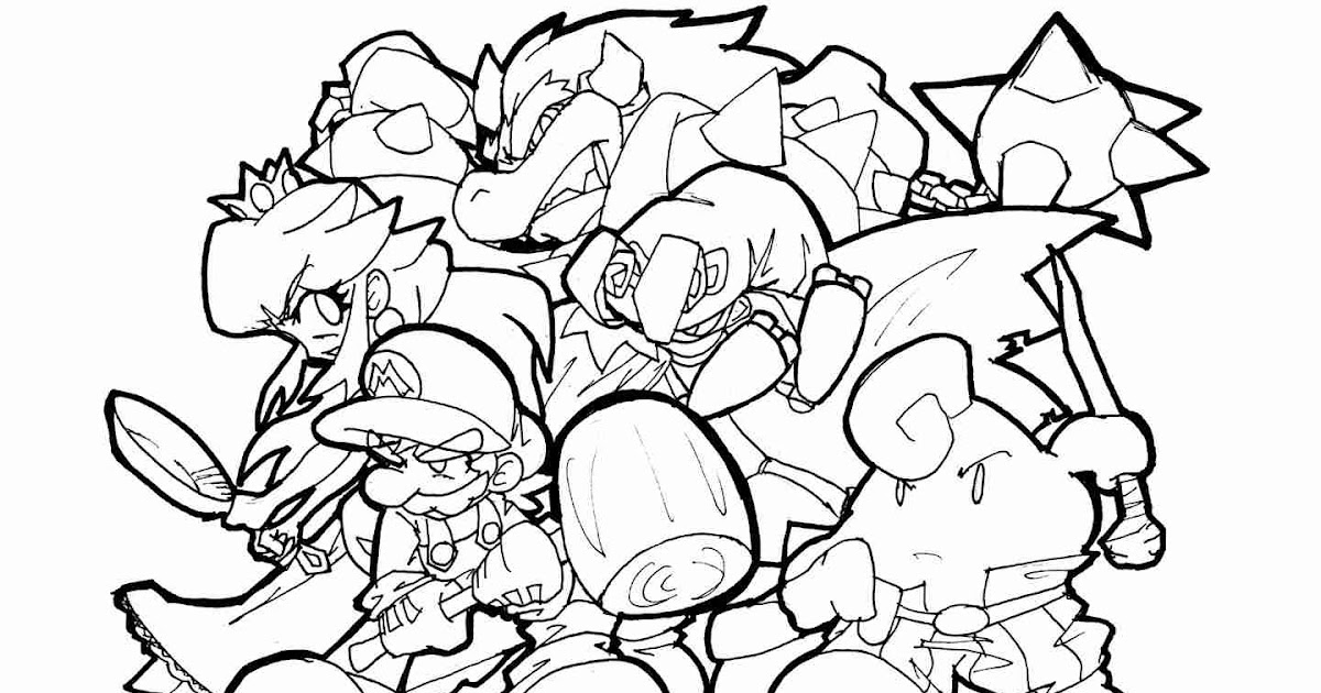 Super Smash Bros Ultimate Characters Coloring Pages ...