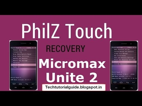 [Custom Recovery][Lollipop] Philz Touch For Micromax Unite 2