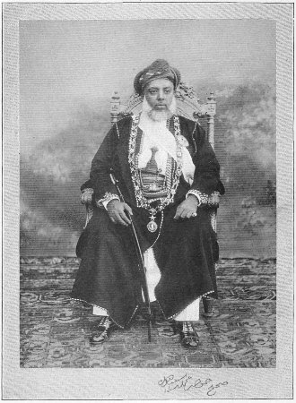 Hamid bin Muhamad bin Said, Late Sultan of Zanzibar. A wealthy Swahili merchant, who would have been one of the go-betweens with the inland merchants.  Davis – Africa… 1907