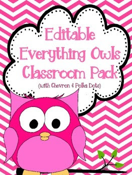 Everything Owls Classroom Pack Including All... by Stephanie Ann ...