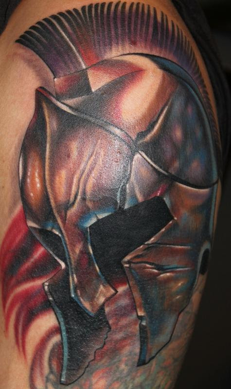 Spartan Helmet American Flag Tattoo Best Picture Of Flag Imagescoorg