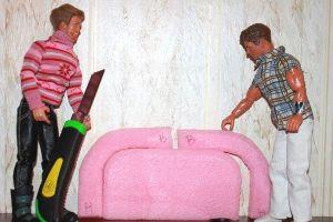 как сделать кровать для барби5