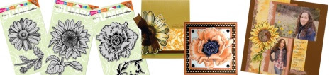 New Jumbo Cling Daisy, Sunflower, Poppy