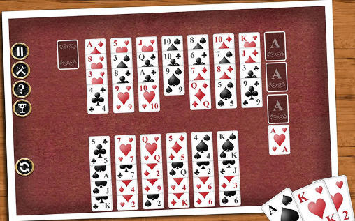 Screenshots of the Solitaire collection for Android tablet, phone.