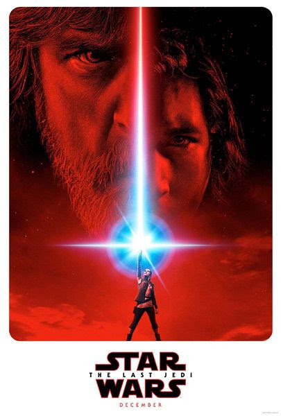 A teaser poster for STAR WARS: THE LAST JEDI.