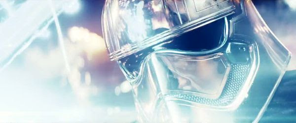 Captain Phasma (Gwendoline Christie) battles her former subordinate FN-2187 (John Boyega, off-screen) in STAR WARS: THE LAST JEDI.