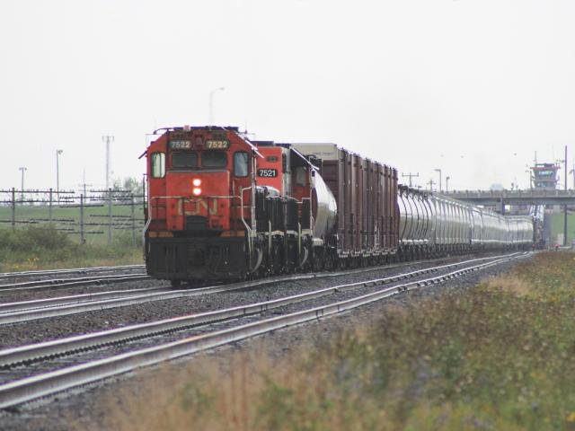 CN 7522 at Symington Yard in Winnipeg
